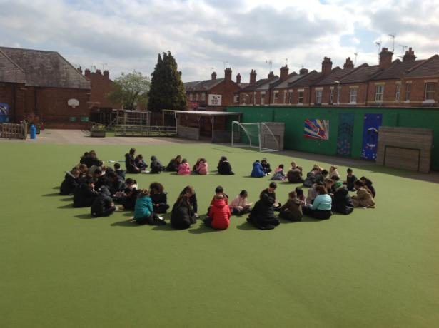 Reading circle with Y4 and Y6